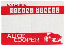 ALICE COOPER 2000 Brutal Planet Tour Backstage Pass!!! Authentic OTTO #1