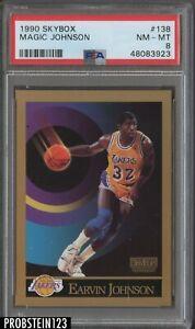 1990 Skybox #138 Magic Johnson Los Angeles Lakers HOF PSA 8 NM-MT