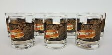 Vtg Couroc Trolly Cable Car San Francisco Mid Century Modern Lowball Glasses Cup