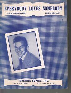 Everybody Loves Somebody 1948 Frank Sinatra Sheet Music