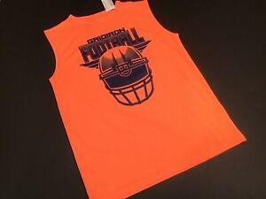 NEW Childrens Place Boys Lg 10/12 Gridiron Orange Sleeveless Performance Shirt