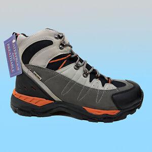 SIZE 9 - 9.5 DAKOTA TREK TERRA GREY ORANGE HIKING TREKKING WALKING WINTER BOOTS