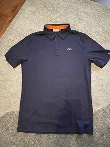 Kjus Golf Shirt - Medium - Navy - Size 48