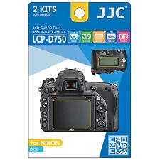 2x Film Protection Ecran LCD Dureté H3 pour Appareil Photo Nikon D750