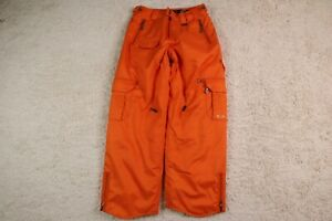Oakley Snow Pants Small Loose Fit Orange Thinsulate Mens