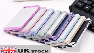 iphone 5 / 5s Luxury Glitter Bling Bumper Side Body Skin Sticker UK SELLER