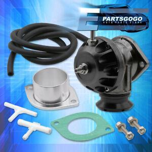 Universal Type-Rz Adjustable Turbo Psi Blow Off Valve Bov Black + 2-Bolt Adapter