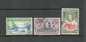A very nice British Honduras George VI trio to $1