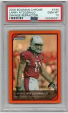 2006 Bowman Chrome Orange Refractor Larry Fitzgerald /25 #194 PSA 10 Cardinals