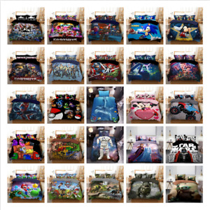Single Double Queen King Size Quilt/Doona/Duvet Cover and Pillowcase Bedding Set