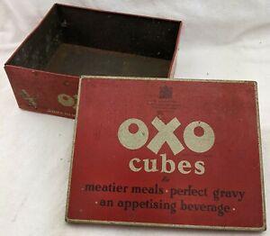 Large Vintage Oxo Cube Tin, circa 1950's, 12x12's