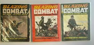 Blazing Combat Warren Magazine lot 1965 #s 1,2,3