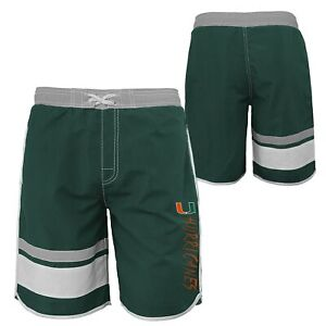 Outerstuff NCAA Youth Miami Hurricanes Color Block Swim Trunks