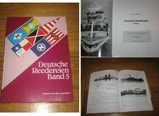 Deutsche Reedereien Band 5 von Gert Uwe Detlefsen limitierte Auflage
