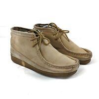 Nicholas Deakins Vintage Mens Beige Suede Leather Boots UK Size 7 EU 41