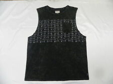 Billabong Men The Cool Team Charcoal  Gray Tank T- Shirts Sleeveless Large