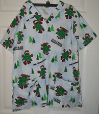 Little Miss Christmas Scrub Top Size M by Mr. Men & Little Miss Holiday Tree
