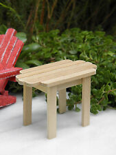 Miniature Dollhouse Fairy Garden Furniture ~ Natural Wood Adirondack Table New