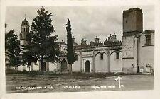 1930-1950 RPPC; Fachada de la Capilla Real, Cholula, Pueblo Mexico MF 10