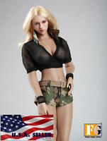 "1/6 Summer Tactical Military Outfits Set 12"" For Hot Toys Phicen Female Figure"
