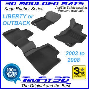 Fits Subaru Liberty / Outback 2003 - 2008 - 3D Kagu Rubber Moulded Floor Mats
