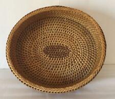 Handwoven Rattan Wicker Storage/serving/display Basket Oval Shape