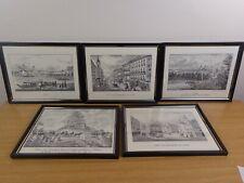 Vintage Prints Impressions of Imperial Linz, Austria, Glass-Framed