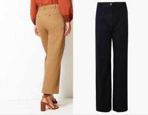 M&S PER UNA  Wide Leg Utility Style Trousers  ~ PRP £39.50