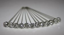 72 LUXURY 4MM X 4CM diamond CLEAR diamante pins WEDDING FLOWERS