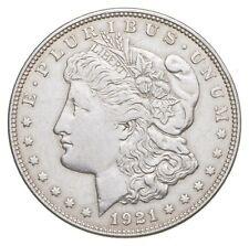 Choice AU/UNC 1921 Morgan Silver Dollar - Last Year of Issue - Great Luster *442