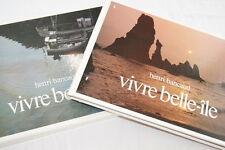 VIVRE BELLE ILE-BRETAGNE BANCAUD RENE ROUGERON-MENGES 1981-ILLUSTRE RELIE