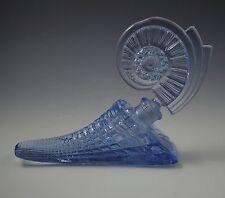 Art Deco Glass Cornucopia Horn Of Plenty Large Perfume Bottle Blue
