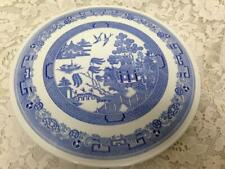 Vintage, Rare, English, Spode Blue Willow 11.5in D Cake Platter or Stand