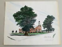 VINTAGE FLETCHER BRYANT LIMITED EDITION CHURCH PRINT 1983 SIGNED, NUMBERED