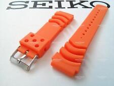 PerFit® 22mm Matte Orange Rubber Watch Band f/ Seiko Z22 4FY8JZ Curved Vent SKX