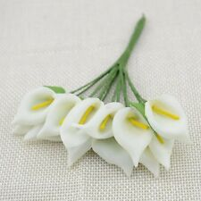 144PC Foam Calla Artificial Flowers Wedding Bride Bouquet Wreath Gifts Box Decor