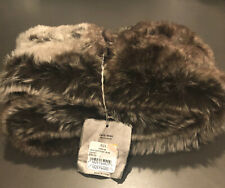 RESTORATION HARDWARE FAUX FUR MINK SCARF- NEW -TAGS ON -LUXURIOUS RARE STYLE