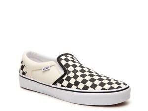 Vans Classic Slip-On - Black/White Checkerboard Mens Size 11.5