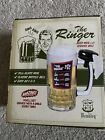 Wembley THE RINGER  Novelty Bar Beer Mug Glass with Service Bell - NEW