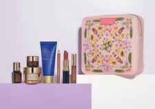Estee Lauder Bonus Makeup Skincare Gift Set 6 Items pink makeup bag brand new