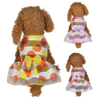 Small Pet Dog Dress Cat Puppy Clothes Summer Apparels Princess Costumes Sightly