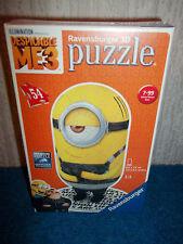 MINION - DESPICABLE ME 3 - RAVENSBURGER 3D 54 PIECE JIGSAW PUZZLE - NEW & SEALED