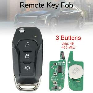 433MHz 3 Buttons Car Flip Remote Key Fob ID49 Chip Fit for Ford Transit Custom