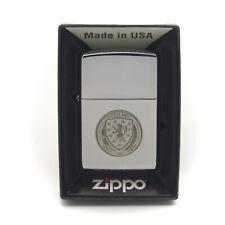 More details for personalised scotland scottish fa genuine zippo cigarette lighter engraved gift