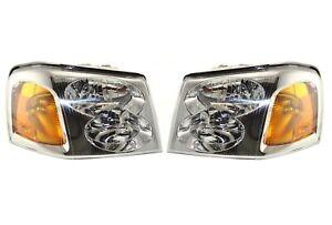 NEW Left & Right Genuine Headlights Headlamps Pair Set for GMC Envoy XL XUV