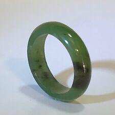Jade Eternity Stack Ring 100% Natural (Grade A—Untreated) Dark Green Jade sz 8