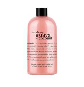 Philosophy: Strawberry Guava Coconut 3 in 1 Shampoo Shower Gel Bubble Bath 16 oz
