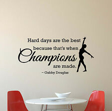 Gabby Douglas Quote Wall Decal Gymnast Decor Gift Vinyl Sticker Gym Poster 596