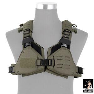 DMgear Tactical Vest MOLLE Chest Rig Women Laser Cut Lightweigh Body Protect