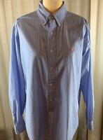 Ralph Lauren Light Blue Classic Fit Oxford Shirt Sz M Compare At $125. Preowned